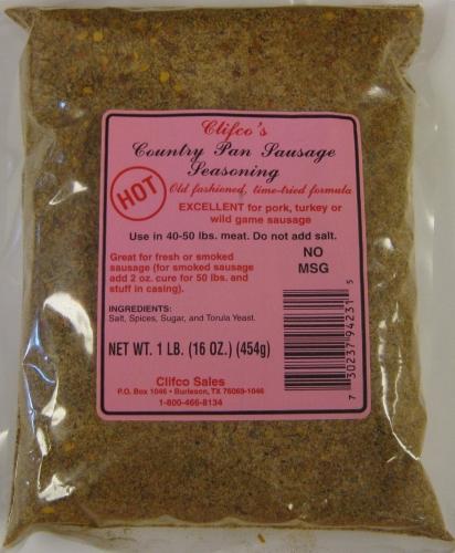 Hot Country Pan Sausage Seasoning